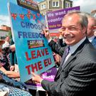 Ukip Leader Nigel Farage was one of the main supporters of Brexit. Photo: Nick Ansell/PA Wire