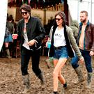 Alexa Chung is seen backstage at the Glastonbury Festival, at Worthy Farm in Somerset, Sunday June 26, 2016. Photo: Yui Mok/PA Wire