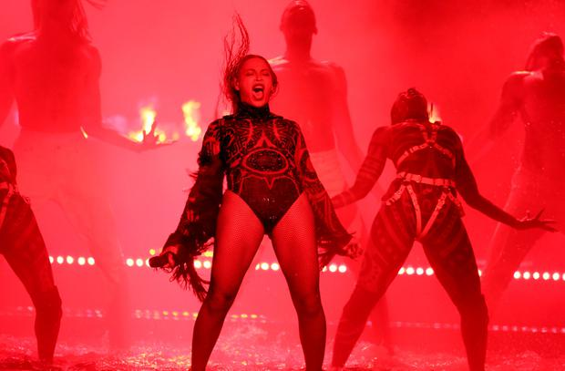 Beyonce performs Freedom at the BET Awards at the Microsoft Theater on Sunday, June 26, 2016, in Los Angeles. (Photo by Matt Sayles/Invision/AP)