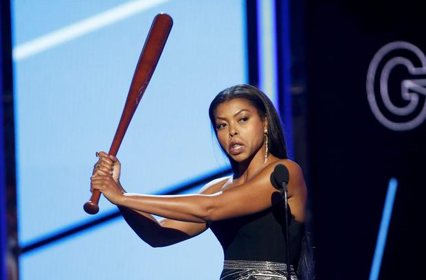 Presenter Taraji P. Henson tells men how to behave when on a date to a Beyonce concert as she presents the award for best group at the 2016 BET Awards in Los Angeles, California, U.S., June 26, 2016. REUTERS/Danny Moloshok
