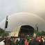 Sigur Ros perform at Royal Hospital Kilmainham, Dublin with a stunning rainbow backdrop. Photo: Sigur Ros / Instagram