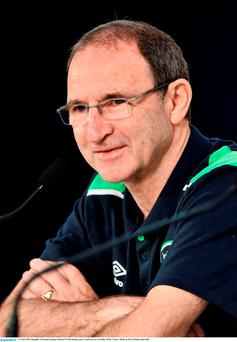 27 June 2016; Republic of Ireland manager Martin O'Neill during a press conference in Versailles, Paris, France. Photo by David Maher/Sportsfile