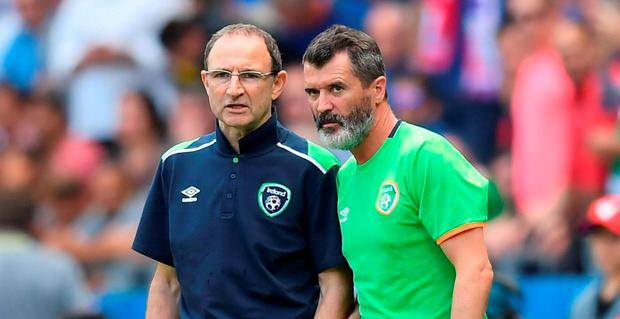 Martin O'Neill, left, and assistant manager Roy Keane