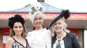 Pictured today, Saturday 25th June at Derby Day in The Curragh racecourse was winner Eva Hayes Morrissey from Castletroy Co.Limerick with L-R Rachel Stevens (Judge) and Breeda McLoughlin (Dubai Duty Free) as she wins the Most Stylish Lady Competition at the 2016 Dubai Duty Free Irish Derby.