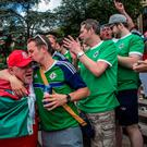 Northern Ireland and Wales fans brought a carnival atmosphere to Paris