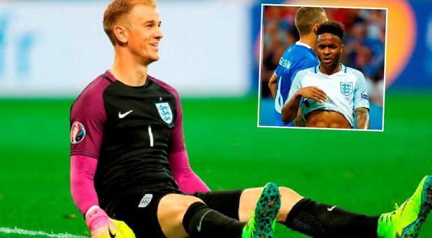 Joe Hart and Raheem Sterling took some serious Twitter abuse during England v Iceland