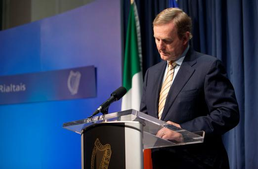 Risks to economic recovery and the Northern Ireland peace process will be Taoiseach Enda Kenny's trump cards when he seeks to make us a 'special case' in the Brexit negotiations. Photo: Gareth Chaney Collins