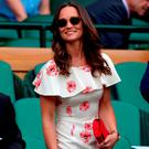 Pippa Middleton in the royal box on day One of the Wimbledon Championships at the All England Lawn Tennis and Croquet Club, Wimbledon