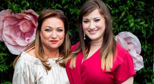 """Norah Casey & Elaine Crowley at Marco Pierre White Restaurant in Donnybrook for a fundraising luncheon to support Breast Cancer Ireland, """"Midday @Marco's"""" . Picture: Anthony Woods"""