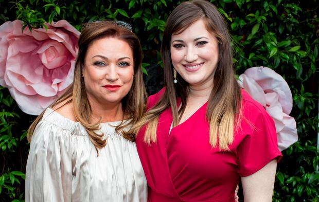 "Norah Casey & Elaine Crowley at Marco Pierre White Restaurant in Donnybrook for a fundraising luncheon to support Breast Cancer Ireland, ""Midday @Marco's"" . Picture: Anthony Woods"