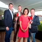 Alan Quinlan, Shane Coleman, Collette Fitzpatrick and Paul Williams at the Newstalk autumn launch. Photo: Tony Gavin 28/6/2016
