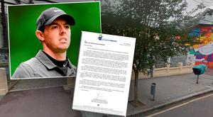 South America's largest children's hospital writes an open letter to Rory McIlroy (inset)