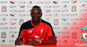 Sadio Mane has completed his move to Liverpool Pic: Liverpool FC