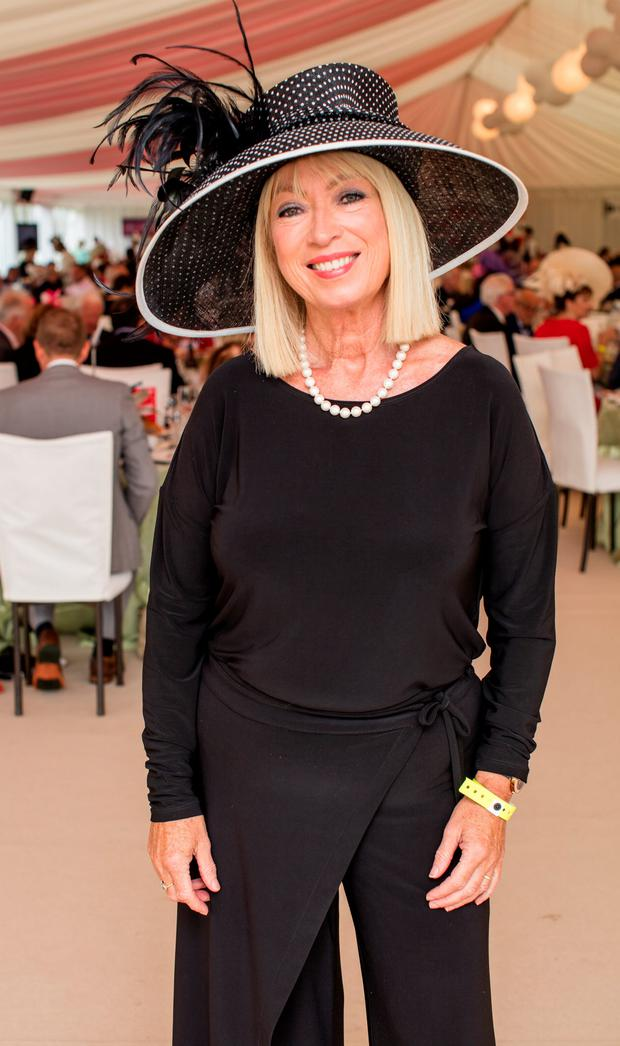 Anne Doyle at the Dubai Duty Free Irish Derby at the Curragh Racecourse. Picture: Anthony Woods