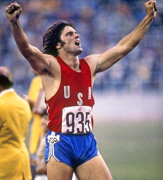 Jul 1976: Caitlin Jenner of the USA celebrates during her record setting performance in the decathlon in the 1976 Summer Olympics in Montreal