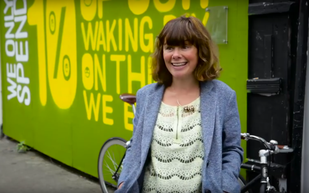 In a video released by Dairygold, pedestrians are asked what they would do with an extra minute in their day. Photo: YouTube