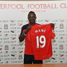 LIVERPOOL, ENGLAND - JUNE 28: (THE SUN OUT, THE SUN ON SUNDAY OUT) (EXCLUSIVE COVERAGE)Sadio Mane new signing of Liverpool at Melwood Training Ground on June 28, 2016 in Liverpool, England. (Photo by Andrew Powell/Liverpool FC via Getty Images)