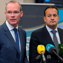 Housing Minister Simon Coveney and Minister for Social Protection Leo Varadkar. Photo: Collins