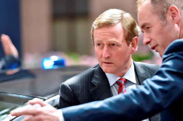 Ireland's Prime minister Enda Kenny arrives before an EU summit meeting in Brussels last night. Getty Images