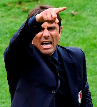 Italy's coach Antonio Conte played out every move, recalling the old assertion of the great Liverpool manager Bill Shankly that football was more important than life and death. Picture credit: MIGUEL MEDINA/AFP/Getty Images