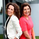 Sarah McInerney and Colette Fitzpatrick at the announcement of Newstalk's autumn schedule at its studio in Dublin's Digges Lane. Photo: Maxwells