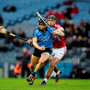 Dublin's Mark Schutte in action against Cork's Killian Burke during the Allianz Hurling League, Division 1A clash at Croke Park in March. Picture credit: Ray McManus / SPORTSFILE