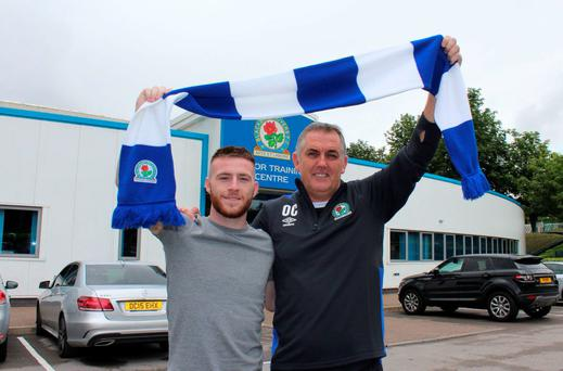 Jack Byrne with Blackburn manager Owen Coyle Pic: Blackburn Rovers/Twitter