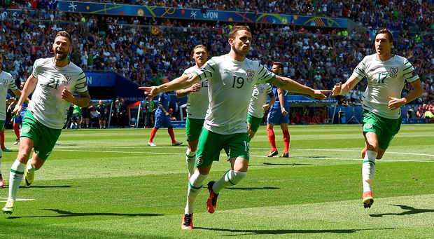 Robbie Brady scored the penalty in the 2-1 defeat to France at Euro 2016
