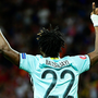Belgium's forward Michy Batshuayi celebrates after scoring. Photo: Emmanuel Dunand/AFP/Getty Images