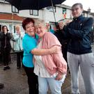 Missing woman Karen Scott is welcomed home by her mother Kathleen in Finglas Photo: Tony Gavin