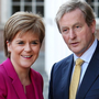 Nicola Sturgeon and Taoiseach Enda Kenny. Photo: Steve Humphreys