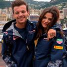 Louis Tomlinson with girlfriend Danielle Campbell, right, and inset, ex Briana Jungwirth with son Freddie Reign