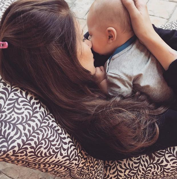 Briana Jungwirth with son Freddie Reign
