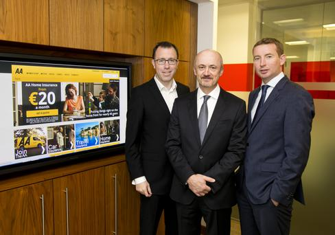 Pictured (l-r): Peter Garvey, Managing Director, The Carlyle Group, Brendan Nevin, CEO, the AA Ireland and John Dolan, Managing Director, Cardinal Capital Group. Photo Colm Mahady / Fennell Photography