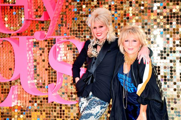 Joanna Lumley and Jennifer Saunders attend the