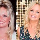 Emma Bunton in 1998, left, and in 2016, right