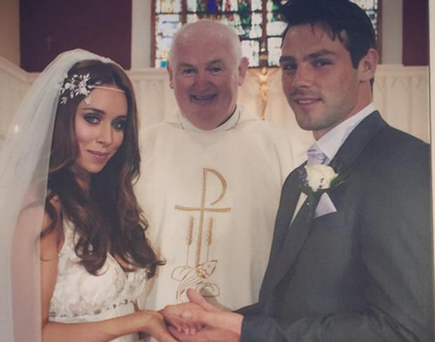 Una Healy and Ben Foden on their wedding day in 2012. Picture: Una Healy/Instagram