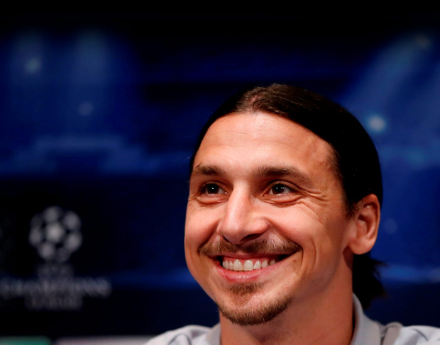 Zlatan Ibrahimovic announced on Instagram that he ws moving to Manchester United. Picture credit: REUTERS/Gonzalo Fuentes
