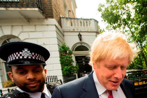 Boris Johnson leaves his home in London ahead of his shock announcement that he would not enter the race to succeed David Cameron Photo: Dominic Lipinski/PA