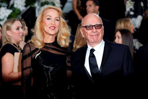 News Corporation boss Rupert Murdoch and his wife Jerry Hall Picture: Reuters