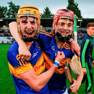 Tipperary's Cian Darcy and Conor Stakelum celebrate their victory. Photo: Eóin Noonan/Sportsfile
