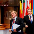 Taoiseach Enda Kenny leaves the EU Summit in Brussels during the week Picture: REUTERS/Francois Lenoir