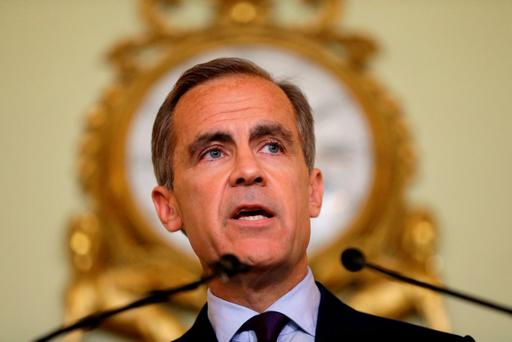 Governor of the Bank of England Mark Carney gives a press conference at the Bank of England in the City of London. Photo: PA Wire