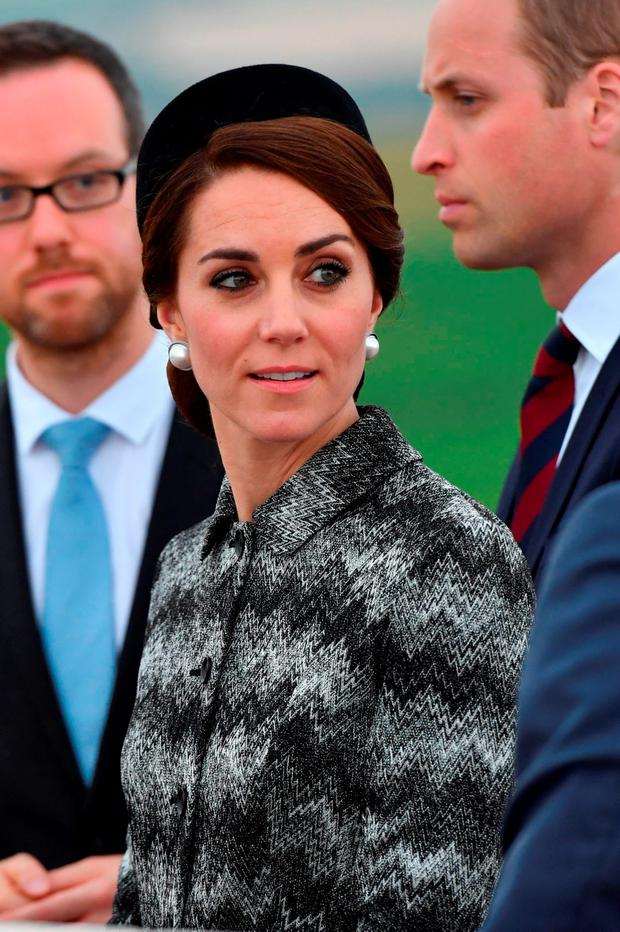 Catherine Duchess of Cambridge attend the Somme Centenary commemorations at the Thiepval Memorial on June 30, 2016 in Albert, France. (Photo by Tim Rooke - Pool/Getty Images)