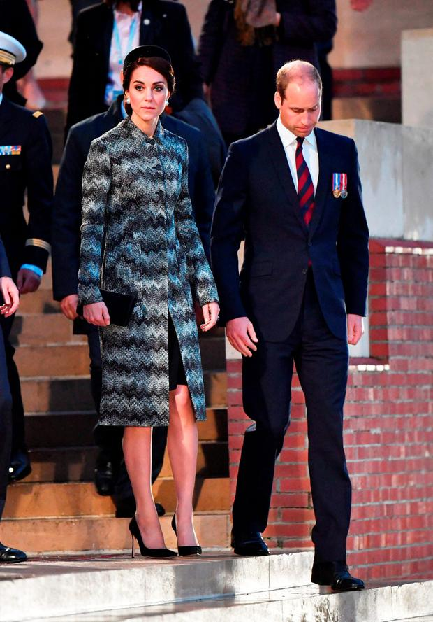 Catherine, Duchess of Cambridge and Prince William, Duke of Cambridge attend part of a military-led vigil to commemorate the 100th anniversary of the beginning of the Battle of the Somme