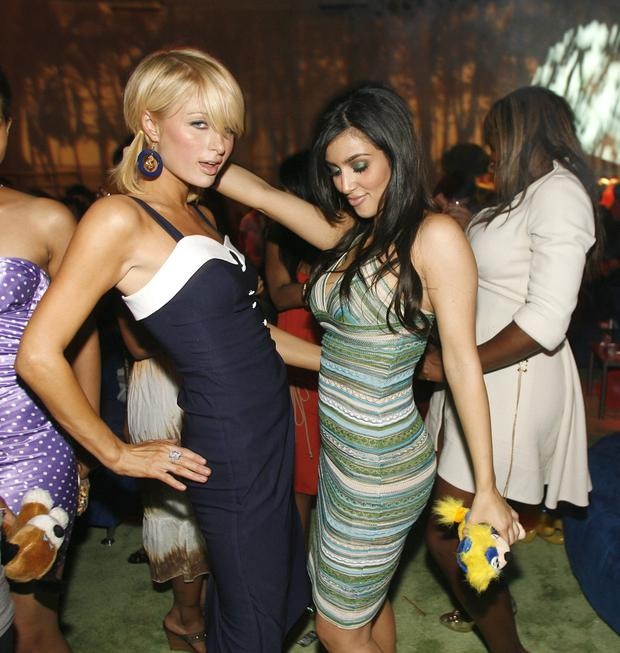 Paris Hilton and Kim Kardashian in 2008