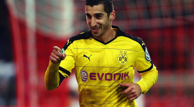 Henrikh Mkhitaryan has signed with Manchester United. Getty