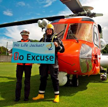 "Irish Coast Guard launch their summer safety campaign ""No Life Jacket? No Excuse."
