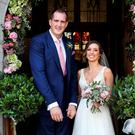 Devin Toner and Mary Scott who were married at the Church of the Nativity in Moynalvey, Summerhill Co Meath. Picture: Steve Humphreys