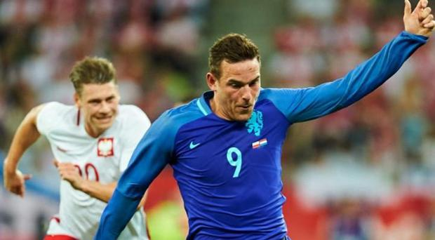 Vincent Janssen (right) in action for Holland CREDIT: EPA